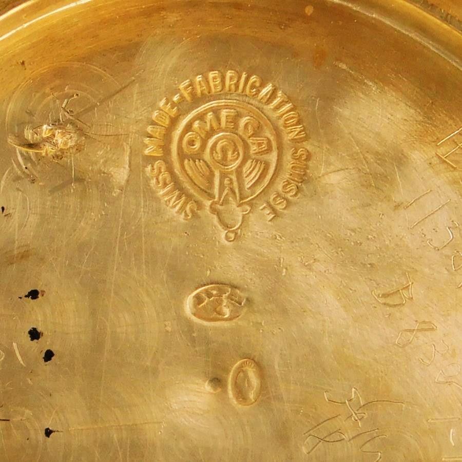 "★★★ OMEGA ★★★ Big Requtangular Case ""ARABESQUE PATTERN FINISHED "" Bi-metal 14K Solid gold★激希少1925年前後製造14金無垢シャンパン&ホワイトゴールド★オメガ レクタンギュラー アラベスク彫金装飾★名機Cal.23.7S.T2のサムネイル"