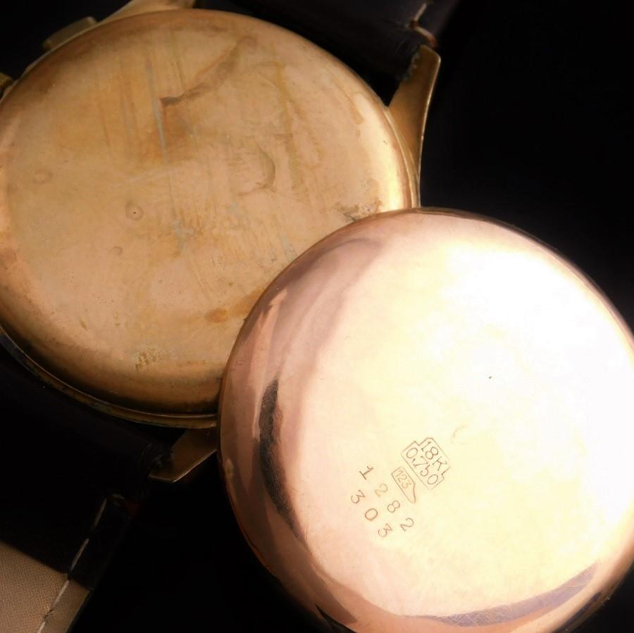 """★★★ CHRONOGRAPHE SUISSE ★★★ 18K Solid Gold """"ANTIMAGNATIC"""" 37mm Over Big Round☆18金無垢ピンクゴールド """"アンティマグネティック/耐磁"""" 37mmオーバービッグラウンドケース Cal.51basedのサムネイル"""
