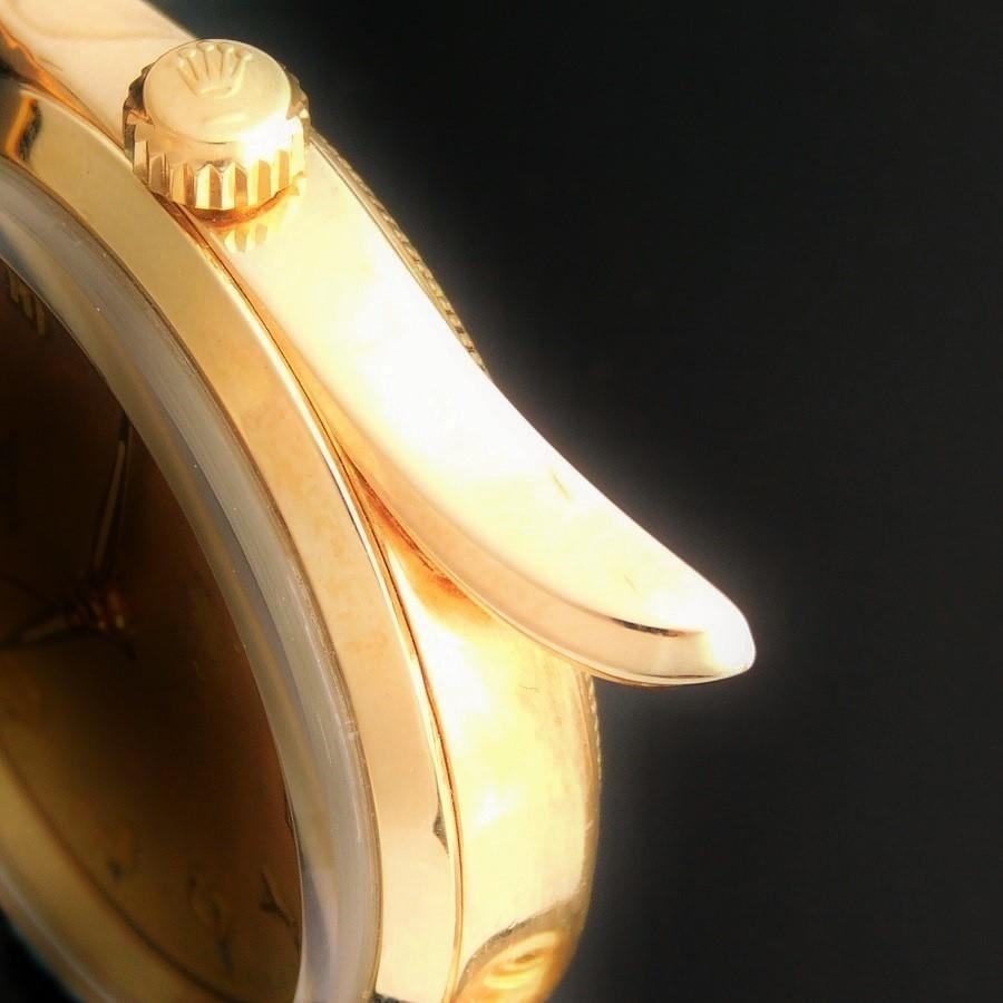 "★★★ R O L E X ★★★ OYSTER PERPETUAL ""BOMBAY"" ALL 18K SOLID GOLD W/HUMMER HEAD LUG☆オイスターパーペチュアル ""ボンベイ"" 14金無垢 W/ハンマーヘッドラグ Ref.5590/Cal.1530のサムネイル"