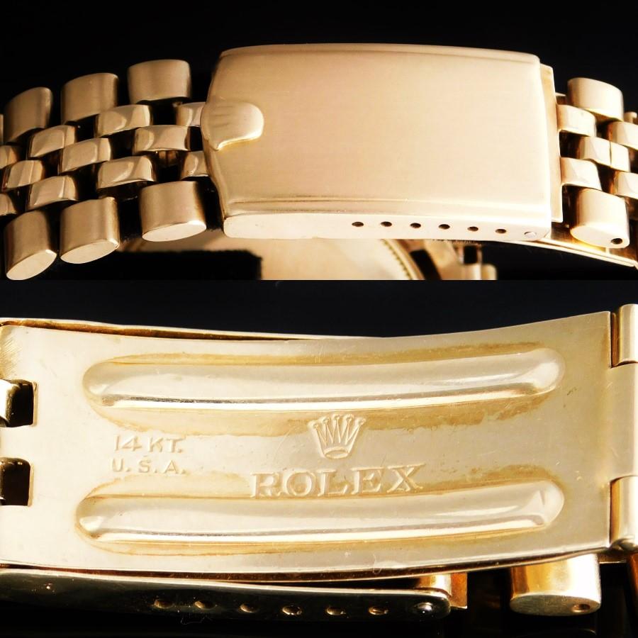 "★★★ ROLEX ★★★ 14K Solid Gold ""OYSTER PERPETUAL DATE"" W/14k Solid Gold ROLEX USA Bracelet☆14金無垢シャンパンゴールド ""オイスターパーべチュアルデイト"" ロレックス 14金無垢USAブレスレット Ref.1503/Cal.1570のサムネイル"
