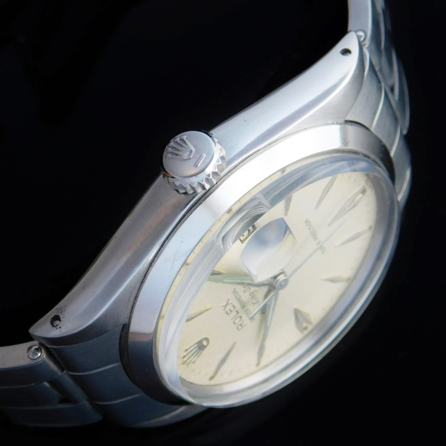 "★★★ R O L E X ★★★ Oyster Perpetual ""Air-King-Date"" In 1963☆激希少1963年製造☆純正楔型文字盤★ロレックス エアキングデイト Ref.5700★1967年製造純正5連ジュビリーブレスR.6251H/FF.57のサムネイル"