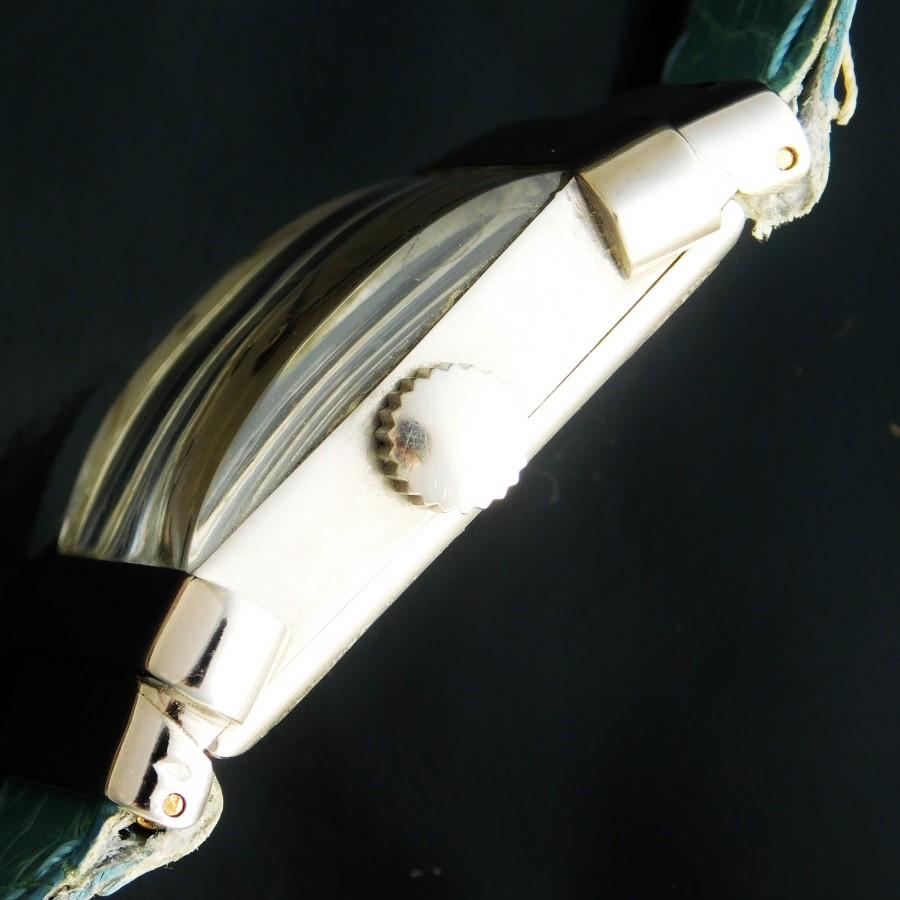 ★★★ PATEK PHILIPPE ★★★ Solid Platinum Rectangular – TOP HAT – Platinum Hour makers☆幻1948年製造アーカイブ付属☆950プラチナ無垢★パテック フィリップ トップハット Ref.1450★伝説Cal.9-90スワンネック☆純正プラチナ尾錠のサムネイル