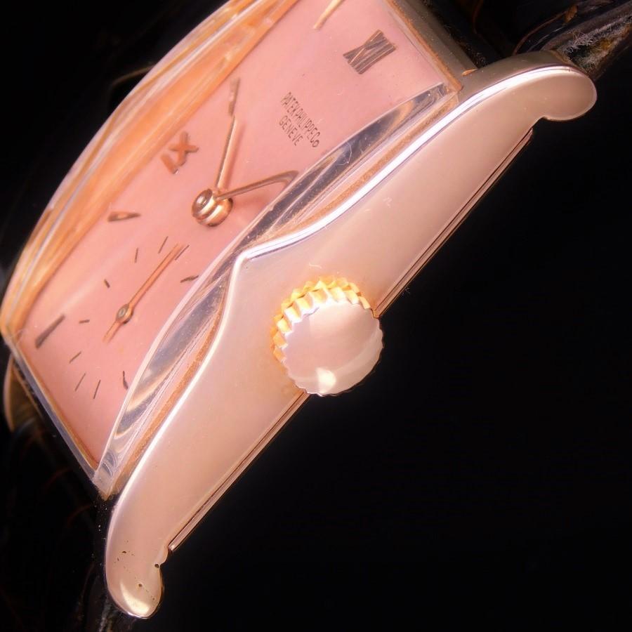 ★★★ PATEK PHILIPPE ★★★ 18K Solid Rose Gold Rectangular – ASPERITAS – 18K Rose Gold makers☆激希少極上品☆18金無垢ローズゴールド1948年製造アーカイブ付属★パテック フィリップ アスペリタス Ref.1588★名機9-90スワンネックのサムネイル