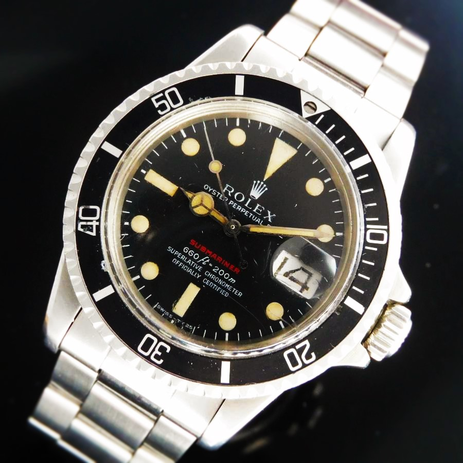 """★★★ R O L E X ★★★ OYSTER PERPETUAL """"RED SUBMARINER"""" DATE IN CIRCA 1972's Ref.1680/O Feet-First Mark Ⅳ☆激希少1972年☆赤サブマリーナ☆マーク4★ロレックス サブマリーナデイト REf.1680 Cal.1570★3連巻ツインロックRef.9315 FF.280溝無しのサムネイル"""