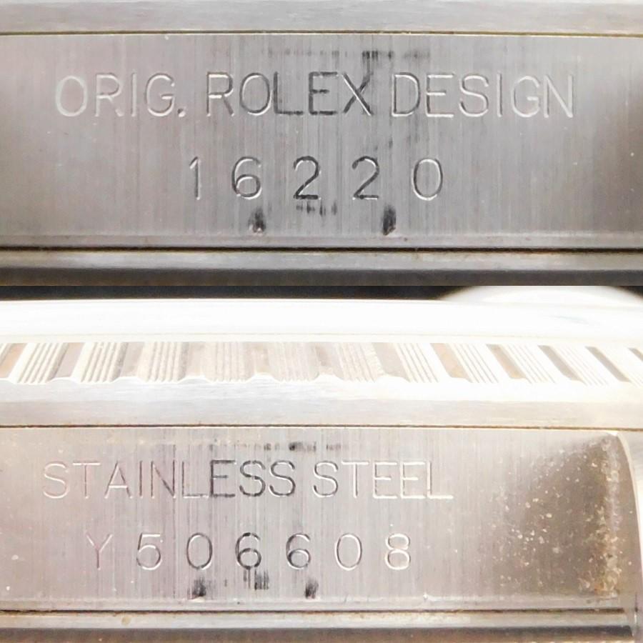 "★★★ ROLEX ★★★ All Stainless Steel ""DATEJUST"" FLORAL BEZEL☆売切り☆極上美品オールステンレススティール★ロレックス デイトジャスト Ref.16220★Cal.3135☆Y番2002年製造☆62510Hジュビリー.555Bのサムネイル"