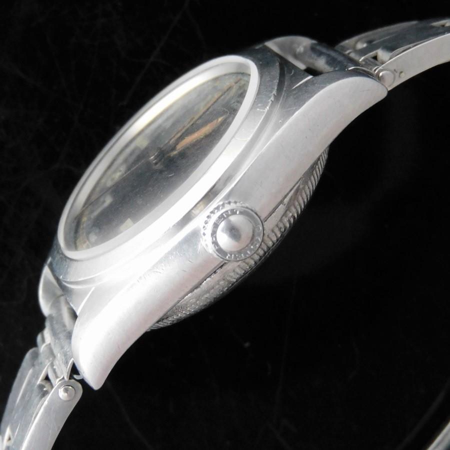 幻純正ブラックミラーユニークラジウム夜光ダイアル★ロレックス バブルバック Ref.2940★1945年製造☆クロムウエル社3連リベットエクステンションブレスのサムネイル