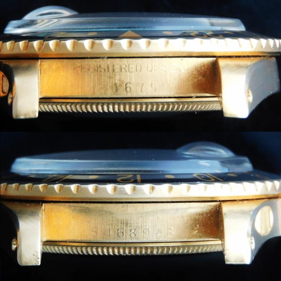 激希少18金無垢ロレックス GMTマスターRef.1675/8セカンド.フジツボ w/純正18金無垢5連ジュビリー★1978年製造.Cal.1570ハックのサムネイル