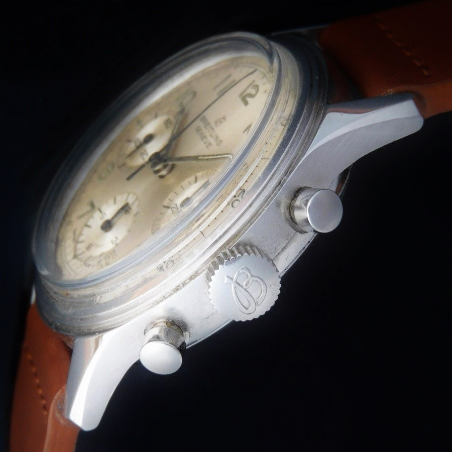幻AVIATIONへの奇跡☆1950年代初期★ブライトリング クロノグラフAVI Ref.765★名機ヴィーナスCal.178のサムネイル