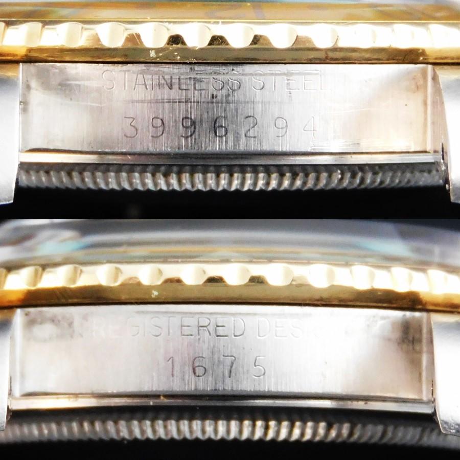 1975年製造希少マットダイアルW/フジツボ14金無垢&SS★ロレックス GMTマスターセカンド Ref.1675/3★14金無垢&SS3連ハード78363/FF.458のサムネイル