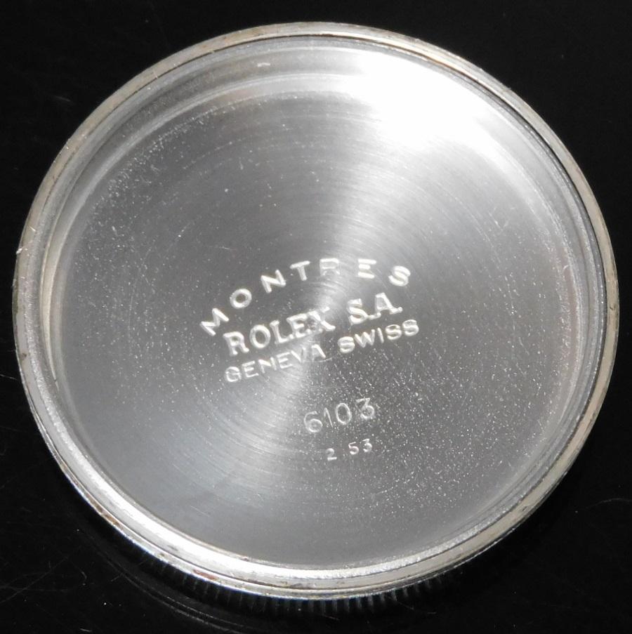 1953年セミバブルバック★ロレックス オイスターパーペチュアル Ref.6103★645キャリバー☆純正ダイアルオリジナルコンディションのサムネイル