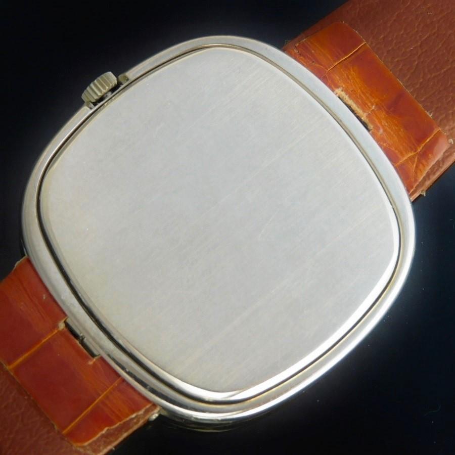 1973年希少☆36mmオーバー18金無垢WG&ディープブルー光沢シグマ文字盤★パテックフィリップ 自動巻スリムモデル Ref.3604★名機Cal.28-255Cのサムネイル