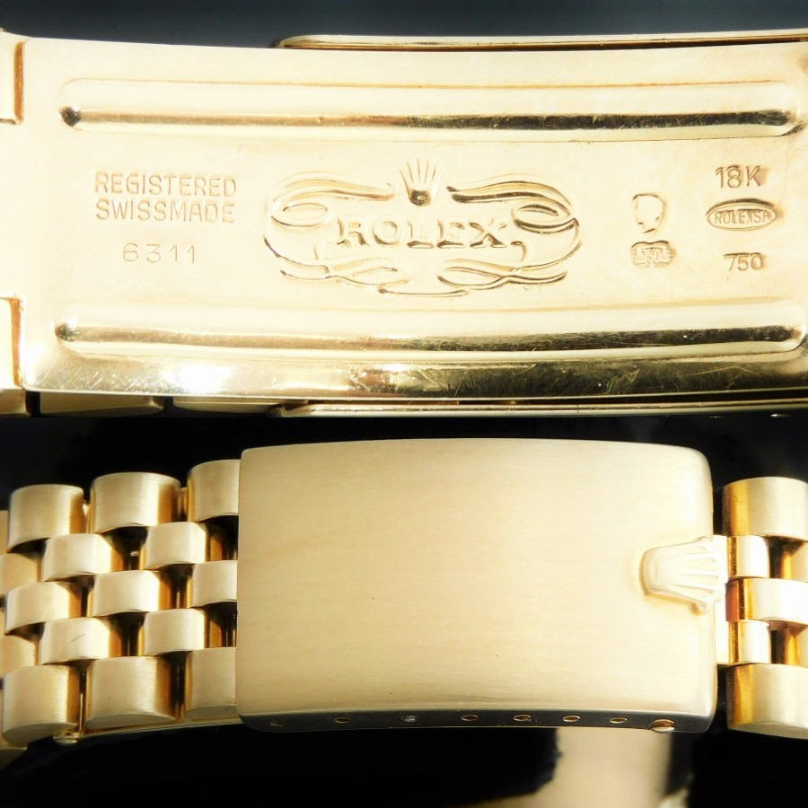 激希少18金無垢☆ギルトトロピカル文字盤フジツボ1979年頃製造★ロレックス GMTマスター Ref.16758★純正18金無垢ジュビリーRef.6311のサムネイル