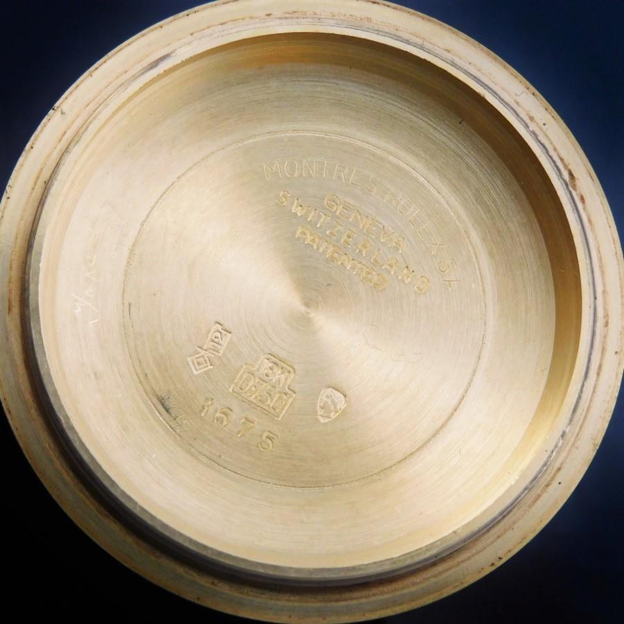 激激希少オール18金無垢1970年頃製造☆日ロレOH見積済み★ロレックス GMTマスター フジツボRef.1675/8★マットチョコレートブラウン☆1570のサムネイル