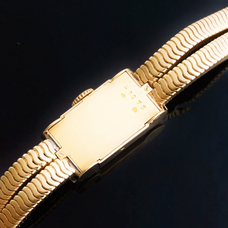 幻1930年代製造デッドストック級極上美品★カルティエ カクテルウオッチ レディース純正40Pダイヤモンド★オール18金無垢フレンチケースのサムネイル
