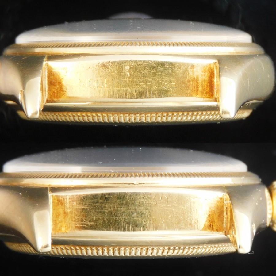 幻レフティー左竜頭☆1952年頃製造18金無垢★ロレックス デイトジャスト Ref.6105 サードモデル★キャリバー745のサムネイル