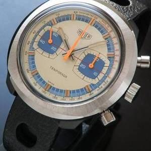 1972年デッドストック★ホイヤー テンポラダ★グラスファイバーベゼル Cal.7733