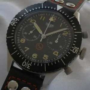 伝説1969年ドイツ軍用官給品★ホイヤー Ref.TKZ1550/Cal.230フライバック クロノグラフ