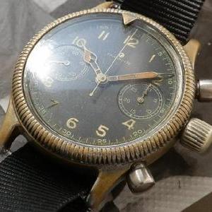 1945年ドイツ空軍本物★チュチマ フリーガークロノグラフ★Cal.59