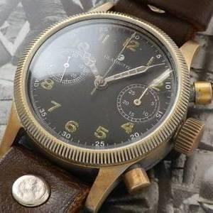 幻..1945年WW2ドイツ軍用本物★グラスヒュッテ チュチマ★Cal.59