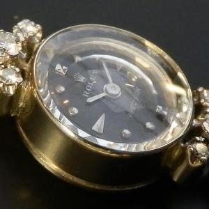 希少14金無垢ホワイトゴールド★ロレックス プレシジョン★6ピース純正ダイヤモンド