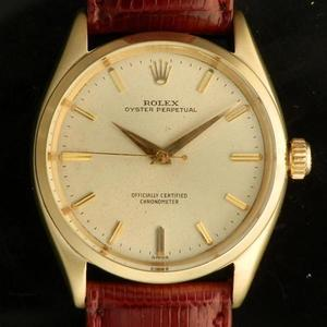 """★★★ R O L E X ★★★  OYSTER PERPETUAL COLLECTION IN 1950's / 14K SOLID GOLD ★オイスターパーペチュアル コレクション """"1950年代"""" 14無垢シャンパンゴールド  Ref.6564/Cal.1030"""