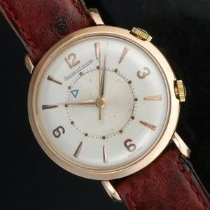 "★★★ JAEGER-LECOULTRE ★★★  18K Solid Rose Gold ""MEMOVOX"" French Big Case 35mm over★18金無垢ローズゴールド ""メモボックス"" フレンチ ビッグケース35mmオーバー  The First Alarm/Cal.489"