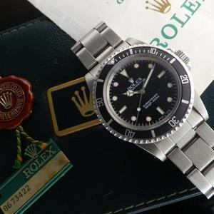 """★★★ R O L E X ★★★  Later Black Glossy """"SPIDER DIAL"""" In Circa 1984's ★ 後期ブラック グロス """"スパイダーダイアル"""" 1984年頃製造  SUBMARINER Ref.5513/Cal.1520"""