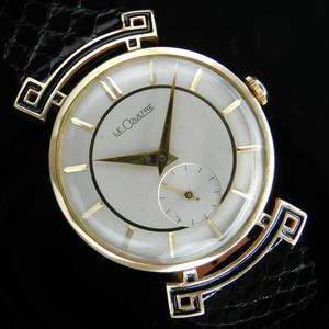"★★★ LeCoultre(Jaeger-Lecoultre) ★★★  14K Solid Champagne Gold ""EXOTIC ROUND LUG"" Small Second☆14金無垢シャンパンゴールド ""エキゾチックラウンドラグ"" スモールセコンド Cal.480CW"
