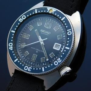 "★★★ SEIKO ★★★  Second Diver Intial ""WATER 150M PROOF"" 6105-8000 In 1969's☆セカンドダイバーモデル ""150M防水"" 6105-8000 1969年製造  R e f . 6 1 M C 0 1 0"