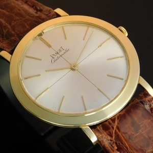 """★★★  P I A G E T  ★★★  Ultra Slim """"AUTOMATIC MICRO-ROTOR"""" 24K Solid gold Auto Rotor☆世界最薄型ギネス ウルトラスリム """"マイクロ24金無垢ローター""""  Ref.12103/Cal.12P"""
