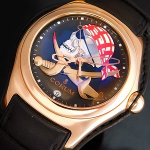 """★★★ CORUM ★★★18k Solid Pink Gold """"BUBBLE PRIVATEER"""" Limited Edition Size 66/99★18金無垢ピンクゴールド """"バブル プライべディア"""" 限定99本/エディションサイズ No.66  Ref.082.150.55/Cal.2892A2"""