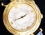 "★★★ Van Cleef & Arpels ★★★ The World Time Alarm ""TRAVELER"" In 18K Solid Gold☆ワールドタイム アラーム ""ヴァン クリーフ&アーペル"" 18金無垢 Cal.911"