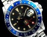 "★★★ ROLEX ★★★ Blue-Bezel & Red 24 Hours Hand ""BLUEBERRY UAE MILITARY"" Red Letter✩ブルーベゼル & レッド24時間針 ""ブルーベリー公式アラブ首長国連邦ミリタリーモデル""w/レッドレター  G M T-マスター Ref.1675/Cal.1570"