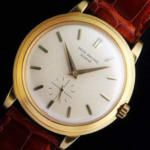 "★★★★★ PATEK PHILIPPE ★★★★★ The first Legend of Automatic ""12-600AT"" Engraving 18k Solid Gold Rotor☆伝説!自動巻ファーストキャリバー ""12-600AT"" 18金無垢彫金ローター  Ref.2552/Double Stepped Case"