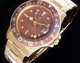 日ロレOH見積り済・1969年頃マットブラウン・フジツボ18金無垢★ロレックス GMT-MASTER Ref.1675/8★18金無垢3連リベット7206/8・FF.80